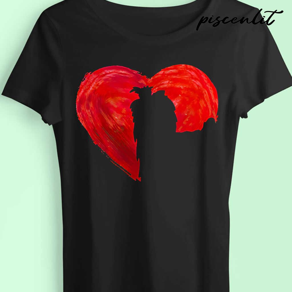 In My Heart Valentine's Day Silhouette Yorkie Tshirts Black - from piscenlit.com 4