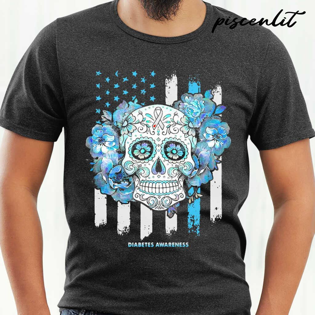 Independence Day Festival Of Death Skull Diabetes Awareness Tshirts Black - from piscenlit.com 1