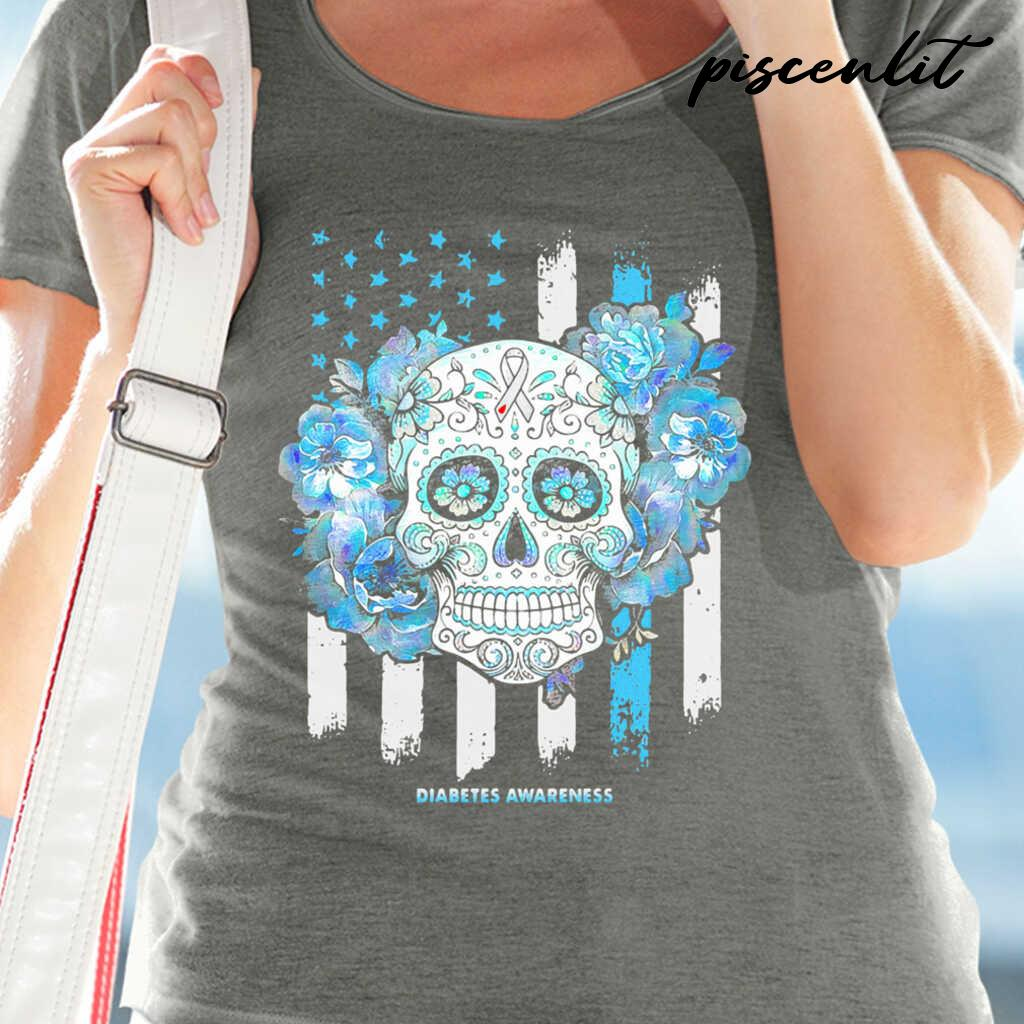 Independence Day Festival Of Death Skull Diabetes Awareness Tshirts Black - from piscenlit.com 2