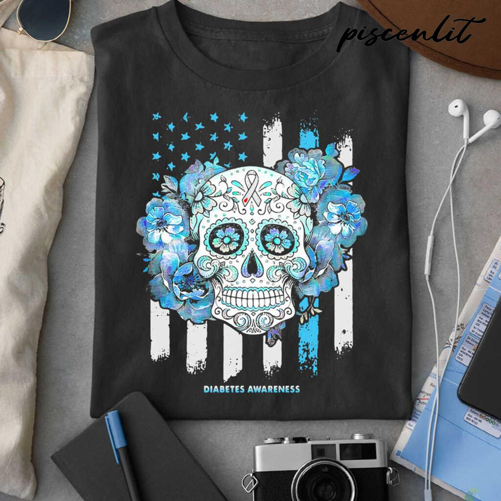 Independence Day Festival Of Death Skull Diabetes Awareness Tshirts Black - from piscenlit.com 3