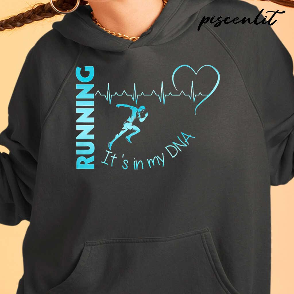 It's In My Dna Running Heartbeat Tshirts Black - from piscenlit.com 4