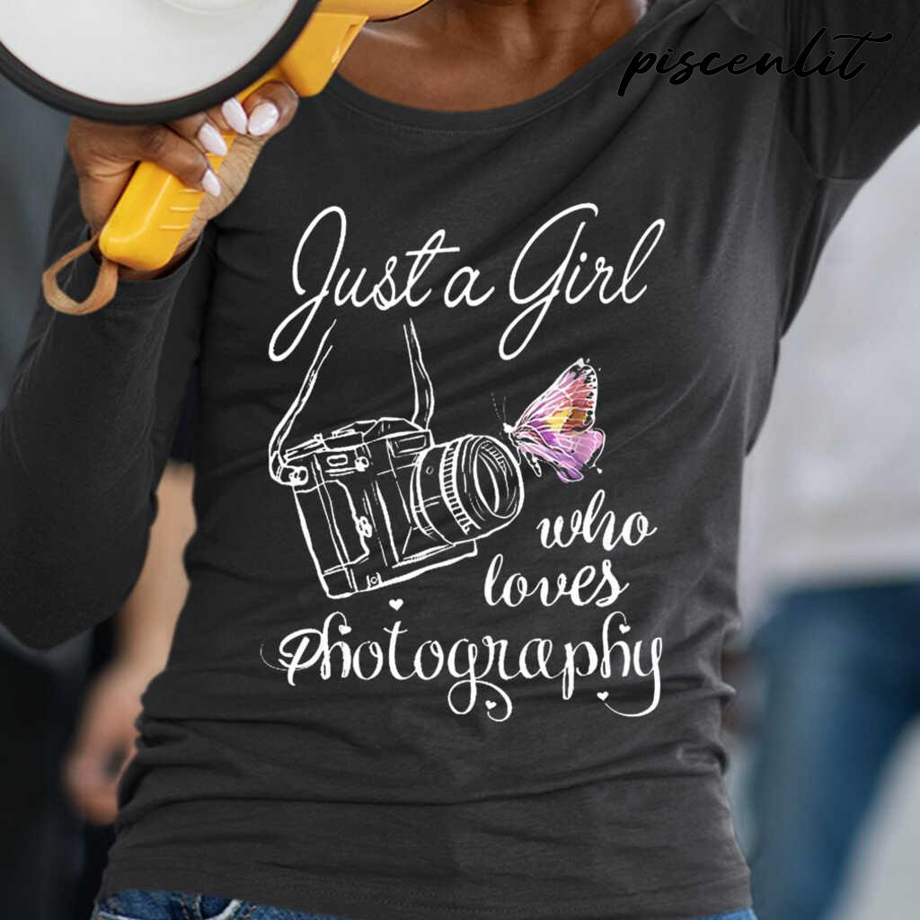 Just A Girl Who Loves Photography Butterfly Line Art Tshirts Black - from piscenlit.com 2