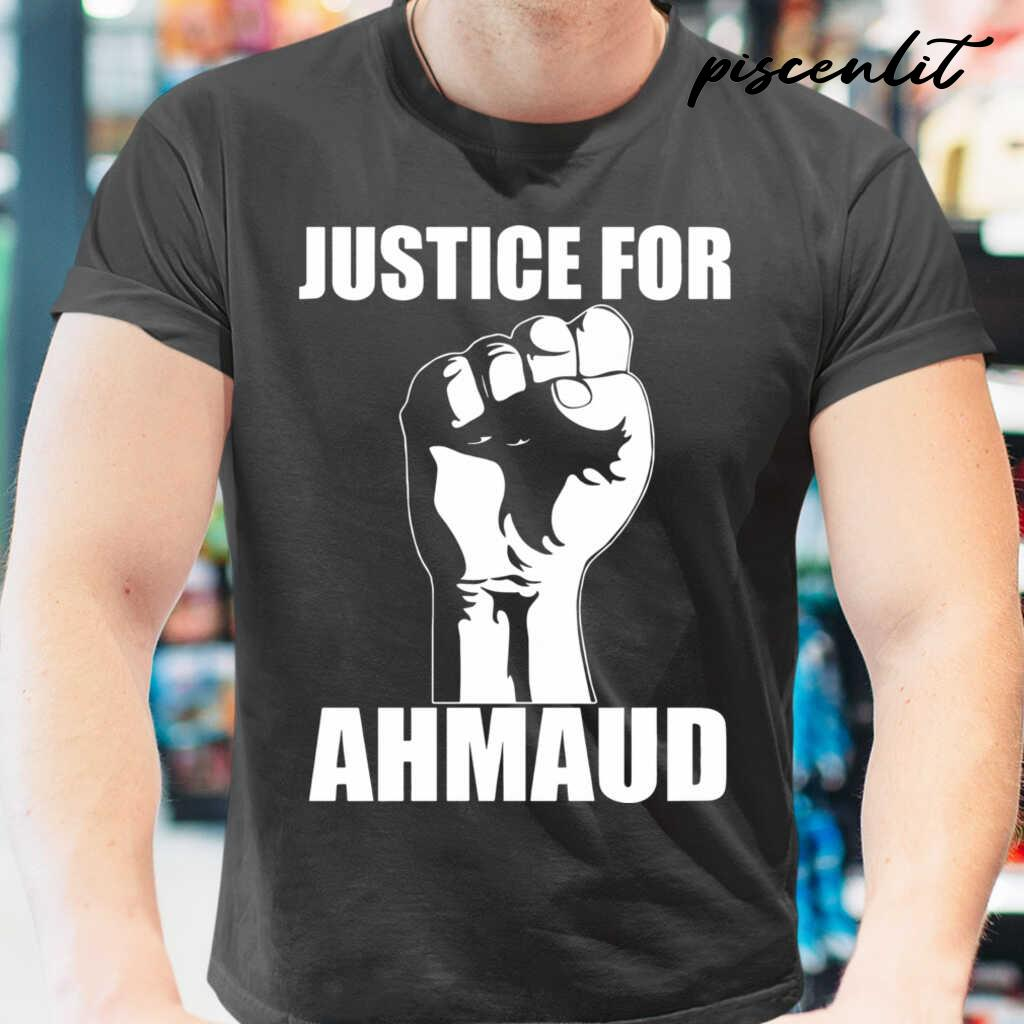 Justice For Ahmaud Tshirts Black - from piscenlit.com 1