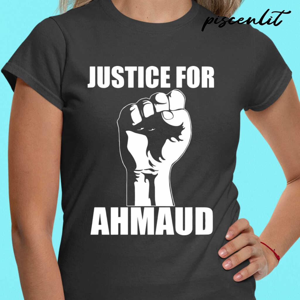 Justice For Ahmaud Tshirts Black - from piscenlit.com 2