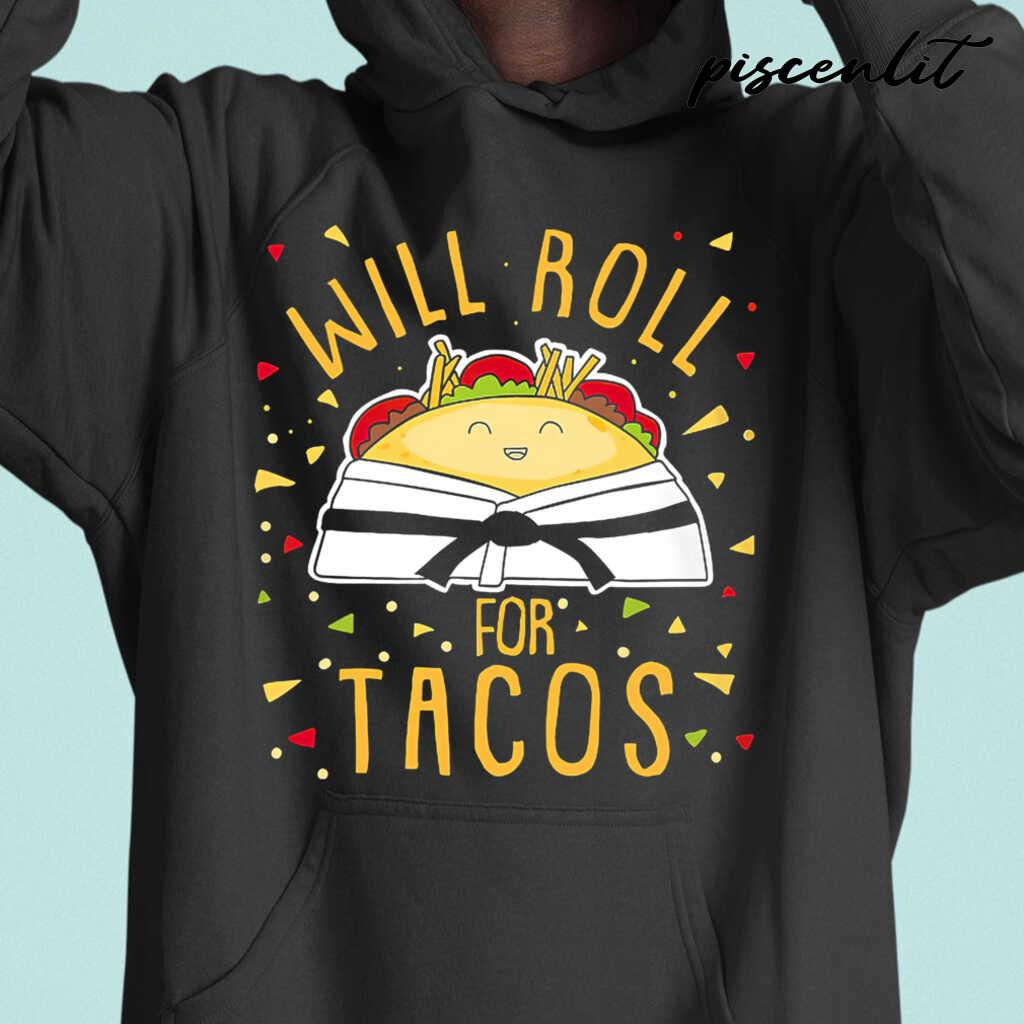 Karate Will Roll For Tacos Tshirts Black - from piscenlit.com 3