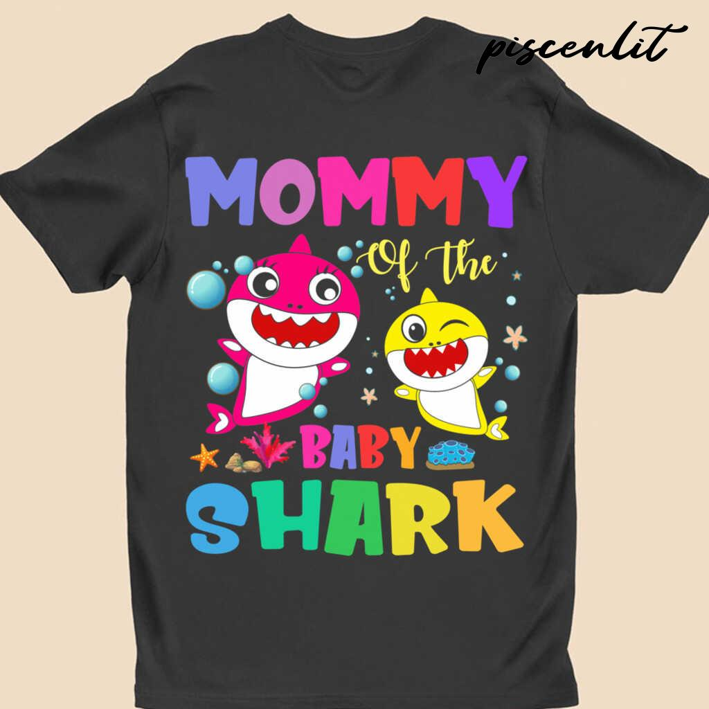 Mommy Of The Baby Sharks Coral Star Tshirts Black - from piscenlit.com 4