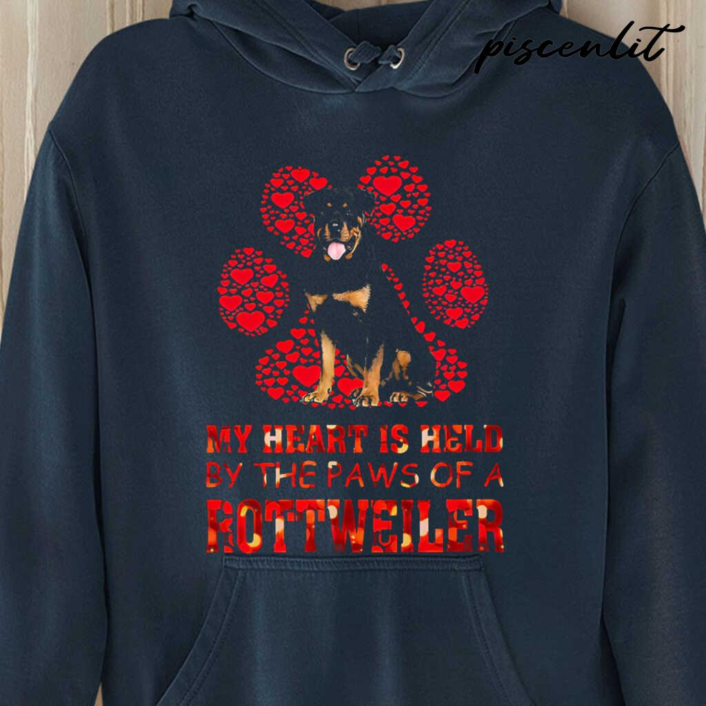 My Heart Is Held By The Paws Of The Rottweiler Tshirts Black - from piscenlit.com 4
