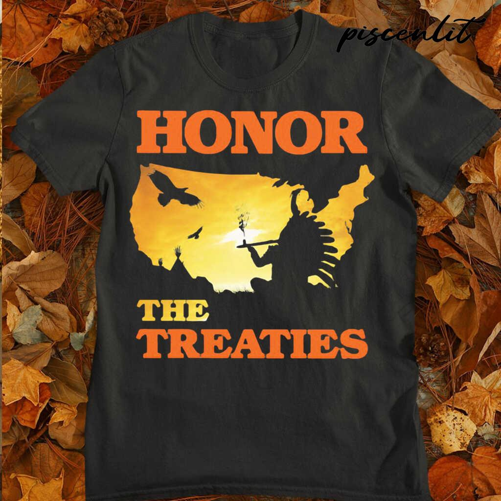 Native Honor The Treaties Sunset Tshirts Black - from piscenlit.com 3