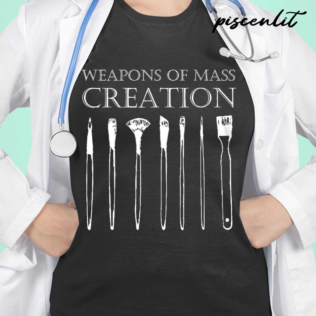 Painter Weapons Of Mass Creation Tshirts Black - from piscenlit.com 2