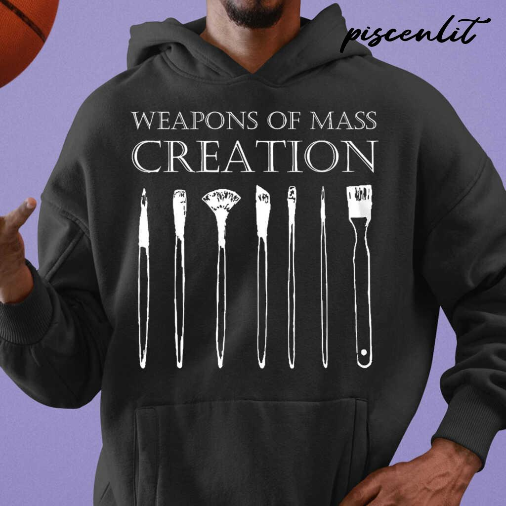 Painter Weapons Of Mass Creation Tshirts Black - from piscenlit.com 3