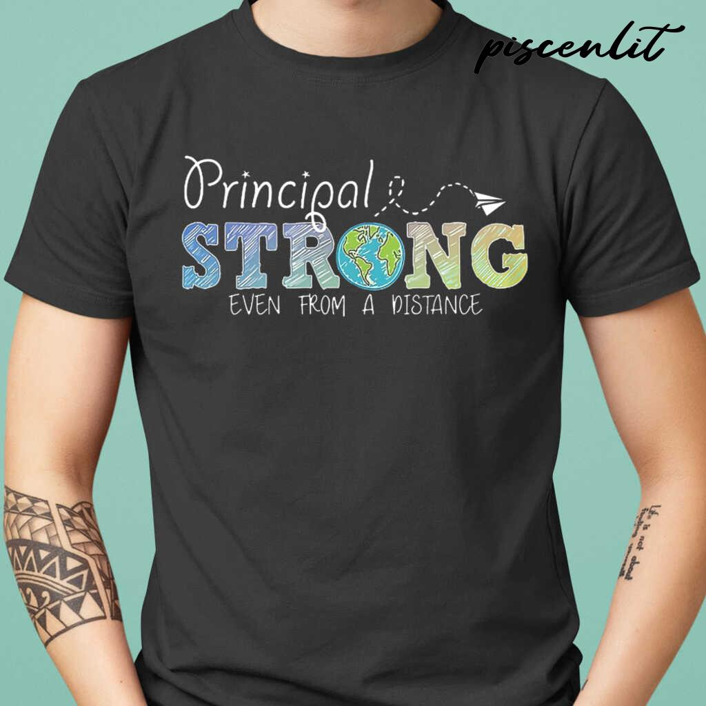 Principal Strong Even From A Distance Globe Tshirts Black - from btsshirts.info 1