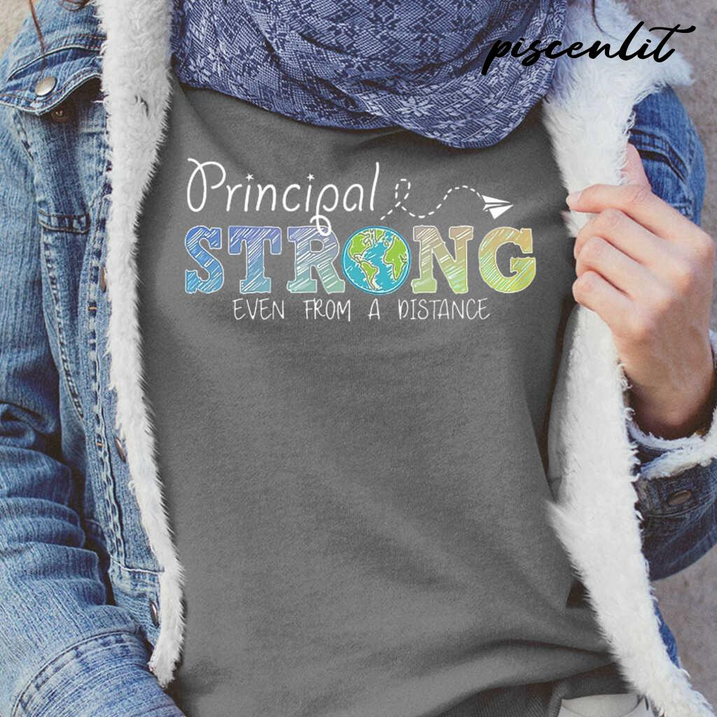 Principal Strong Even From A Distance Globe Tshirts Black - from btsshirts.info 2