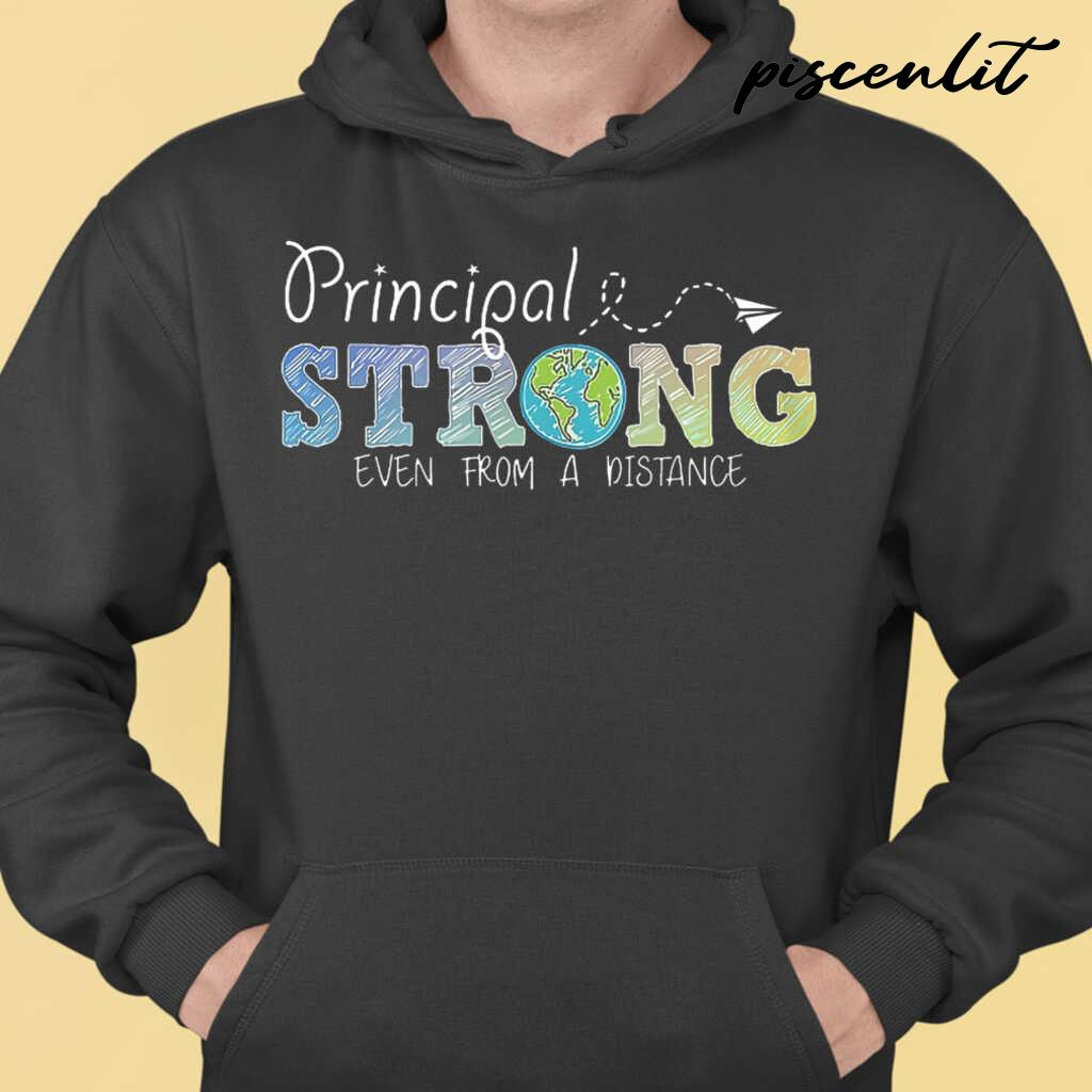 Principal Strong Even From A Distance Globe Tshirts Black - from btsshirts.info 3