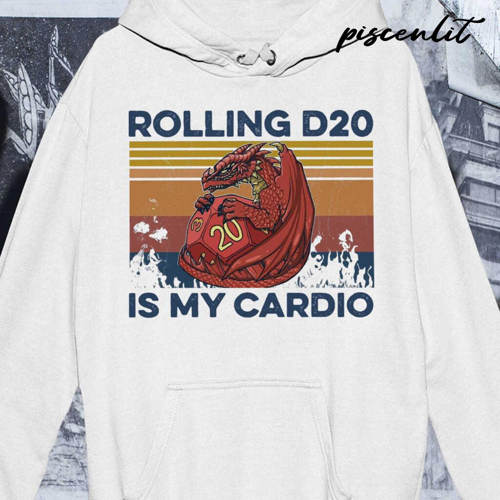 Rolling D20 Is My Cardio Vintage Tshirts White - from piscenlit.com 3