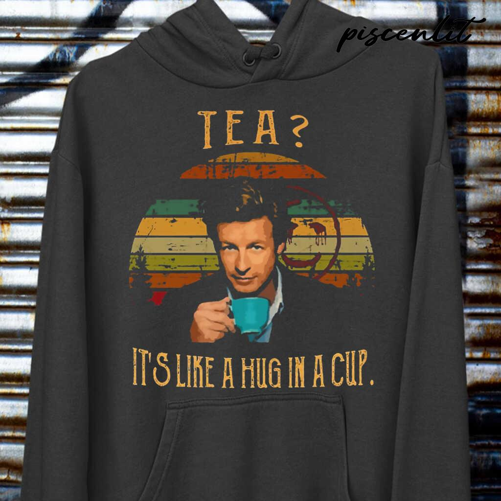 Tea It's Like A Hug In A Cup Vintage Tshirts Black - from piscenlit.com 3