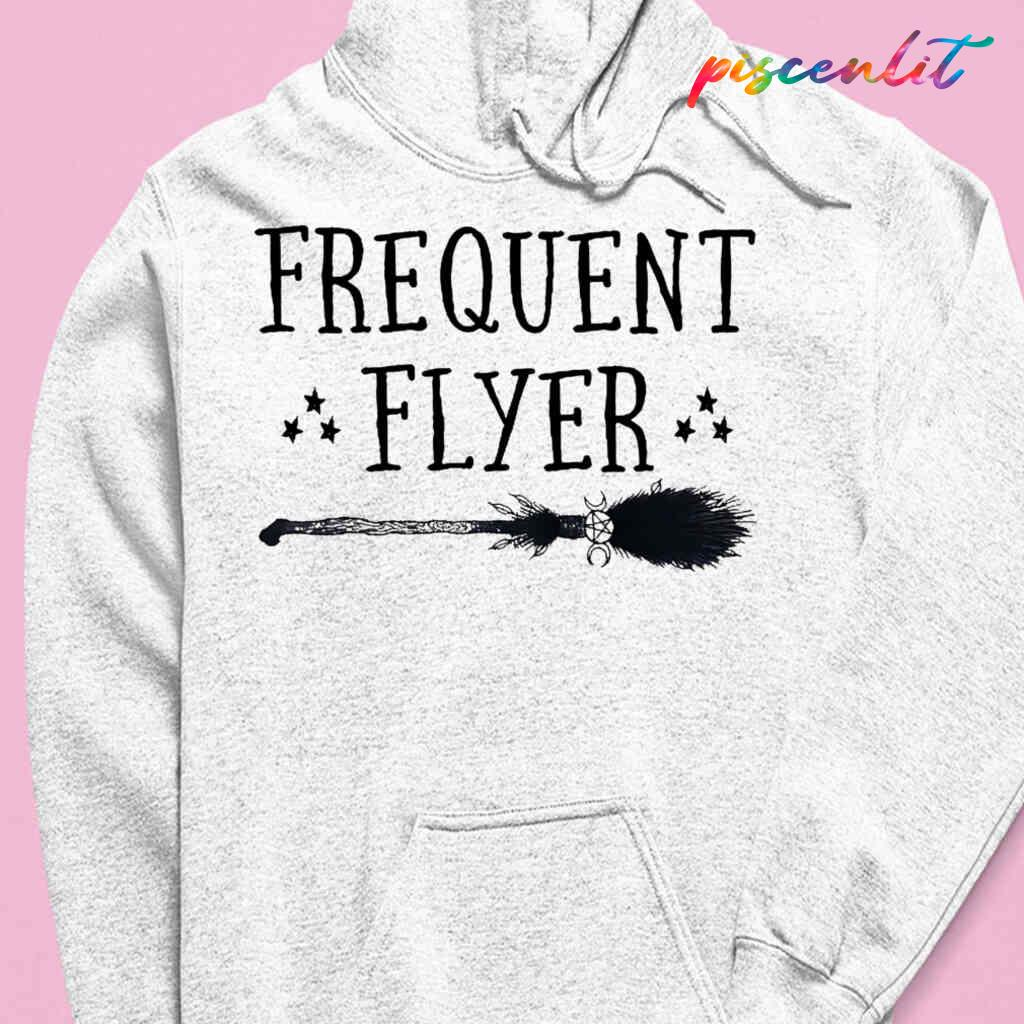 Witch Broomstick Frequent Flyer T-shirts White Apparel White - from piscenlit.com 3